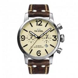 TW Steel reloj de caballero Maveric en piel marrón.