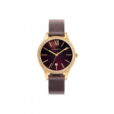 Viceroy reloj de mujer Colección Chic en acero marrón.