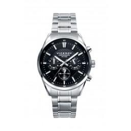 Viceroy reloj multifunción de caballero en acero.