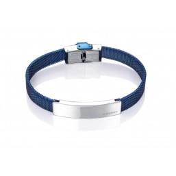 Viceroy Fashion pulsera de caballero en acero azul.