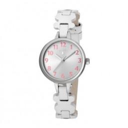 Tous New Cruise Blanco reloj analógico de niña en piel.