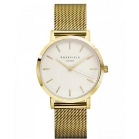 "Rosefield reloj Unisex ""The Mercer"" en acero dorado."