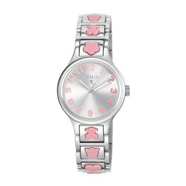 Tous Dolls Rosa reloj de niña en acero con motivos en silicona rosa.