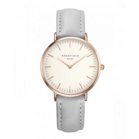 rosefield reloj de mujer Colección The Tribeca en piel gris.