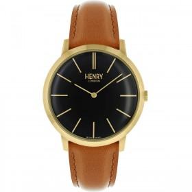 Henry London reloj de caballero Colección Iconic en piel.