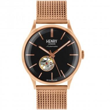 Henry London reloj automático de caballero Colección Heritage en acero