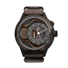 """The Electricianz reloj de caballero """"The Mokaz"""" en piel."""