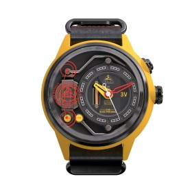 "The Electricianz reloj de caballero ""The Ammeter"" en piel."