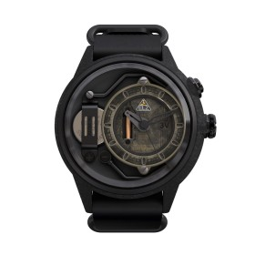 "The Electricianz reloj de caballero ""Blackout"" en piel."