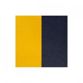 Les Georgettes cuero para anillo reversible azul marino/amarillo.