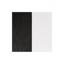 Les Georgettes cuero para anillo reversible Blanco/Negro