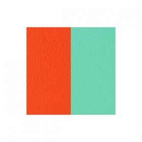 Les Georgettes cuero para anillo reversible Naranja/Azul Nimbo