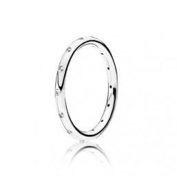 "Pandora anillo de mujer ""Gotas Brillantes"" en plata."