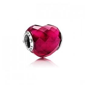 "Pandora charm de pulsera ""Símbolo de Amor"" en cristal."