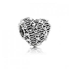 "Pandora charm de pulsera ""Amor & Besos"" en plata."