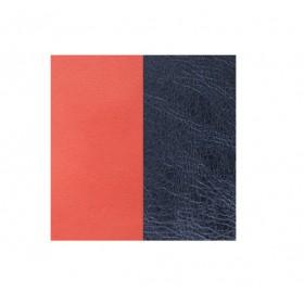 les Georgettes cuero de 40 mm reversible en color Coral y Azul Metalizado.