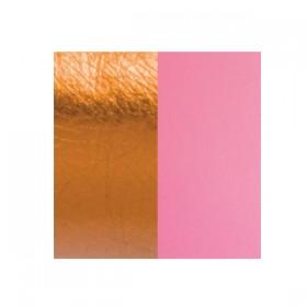 Les Georgettes cuero de 25 mm reversible en color Mandarino y Kiss.