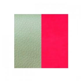 Les Georgettes cuero de 25 mm reversible en color Menthol y Rosa fluorescente.