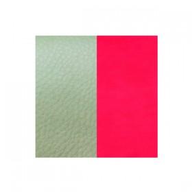 Les Georgettes cuero de 14 mm reversible en color Menthol y Rosa neón.