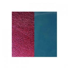 Les Georgettes cuero de 14mm reversible en color Granate Metalizado y Azul brillante.