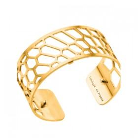 Les Georgettes brazalete Nid d'Abeille de 25mm en dorado.