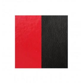 Les Georgettes cuero de 25mm reversible en color Rojo Barniz y Negro.