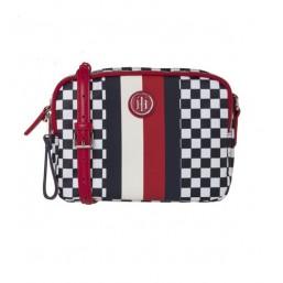 Tommy Hilfiger bolso de mujer Modelo Poppy Crossover Checker Board.
