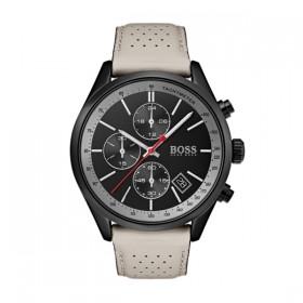 Hugo Boss reloj multifunción de caballeo Modelo Grand Prix en piel.