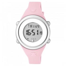 """Tous reloj de niña """"Soft Digital"""" en silicona rosa."""