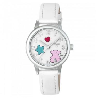 """Tous reloj de niña """"Muffin"""" en piel blanca."""