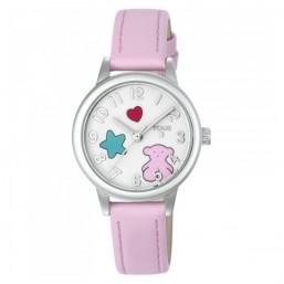 """Tous reloj de niña """"Muffin"""" en piel rosa."""
