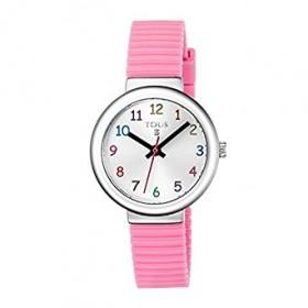 """Tous reloj de niña """"Rainbow"""" en silicona rosa."""