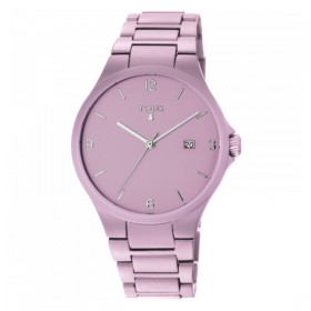 "Tous reloj de mujer ""Motion"" en aluminio rosa."