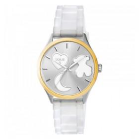 """Tous reloj de mujer """"Sweet Power"""" en silicona blanca."""