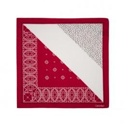 Calvin Klein pañuelo de mujer Silk Logo Mix en rojo-