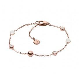 Skagen pulsera para mujer SEA GLASS en acero rosa.