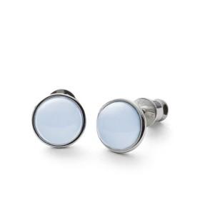 Skagen pendientes de botón de mujer Sea Glass en acero.