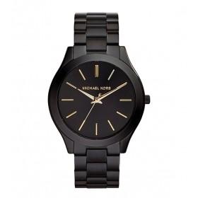 Michael Kors reloj de mujer SLIM RUNWAY en acero negro.