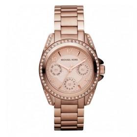 Michael Kors reloj de mujer MINI BLAIR en acero rosa.