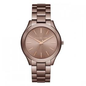 Michael Kors reloj de mujer SLIM RUNWAY en acero marrón.
