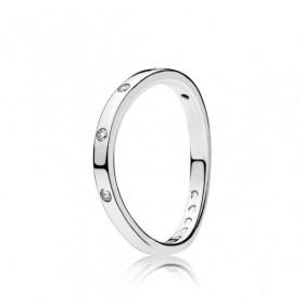 """Pandora anillo de mujer """"Gotas Giratorias"""" en plata."""