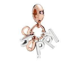 "Pandora Rose charm colgante ""Happy"""