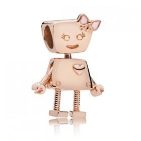 "Pandora Rose charm para pulsera ""Robot Bella""."