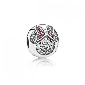 """Pandora Disney charm de pulsera """"Minnie Pavé""""."""