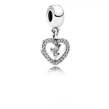 "Pandora Disney charm colgante ""Amor de Campanilla"" en plata."