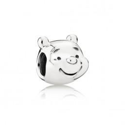 "Pandora Disney charm ""Retrato Winnie The Pooh en plata."