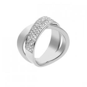 Michael Kors anillo de mujer en acero.