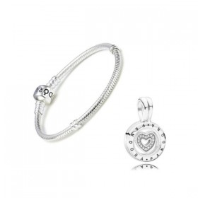 Pandora Gift Set pulsera Moments y charm colgante Locket