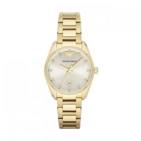 """Emporio Armani reloj de mujer Tazio"""" en acero dorado."""