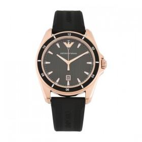 Emporio Armani reloj de caballero en caucho negro.